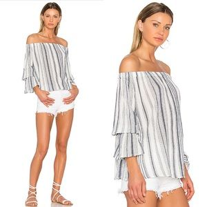 Sanctuary Striped Off Shoulder Top Size XS